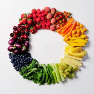 Fruit & vegetable color wheel.